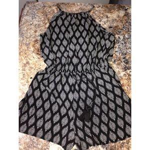 Patterned romper dress